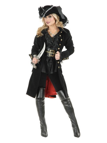 Adult Pirate Vixen Coat Black