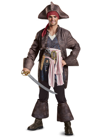 Adult Pirates of the Caribbean 5: Captain Jack Costume Deluxe
