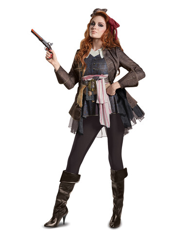 Adult Pirates of the Caribbean 5: Captain Jack Female Costume Deluxe
