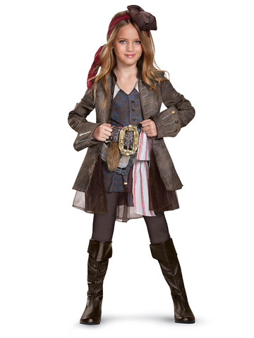 Kids Pirates of the Caribbean 5: Captain Jack Girl Costume Deluxe