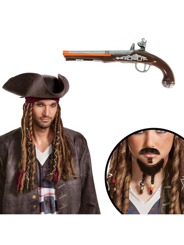 Pirates of the Caribean Jack Sparrow Adult Accessory Kit