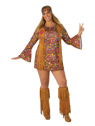 Hippie Peace and Love Plus Costume