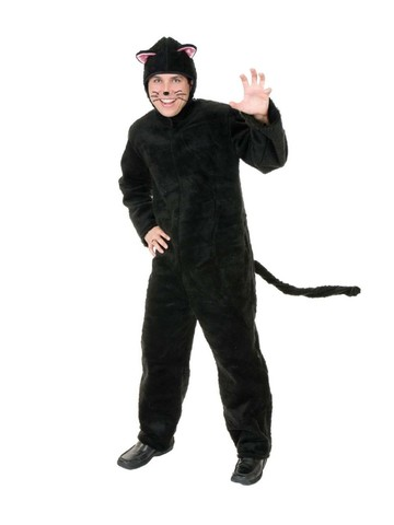 Plush Cat Unisex Costume for Adults