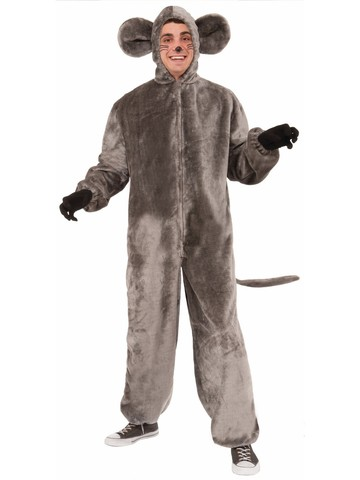 Grey Mouse Adult Plush Costume