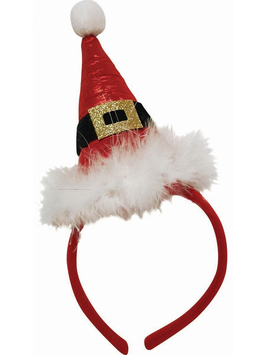View larger image of Pointed Santa Hat Headband Accessory
