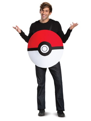 Poke Ball Classic Pokemon Costume for Adults
