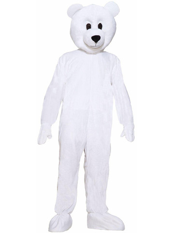 Polar Bear Plush Economy Mascot Adult Costume