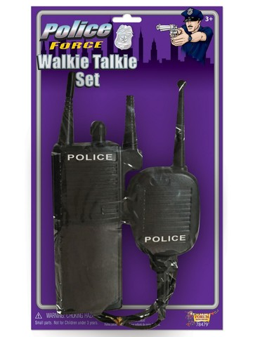 Police Officer Walkie Talkie Set