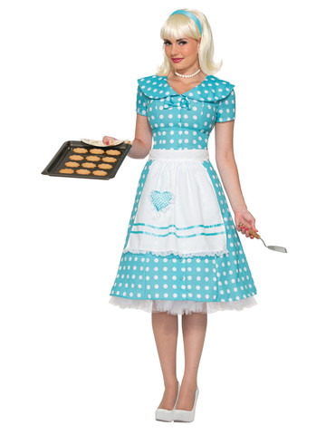 Adult Polka Dot House Wife Costume