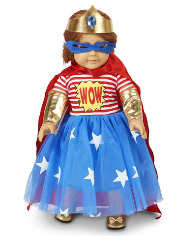 "Pop Art Comic Superhero Girl 18"" Doll Costume"