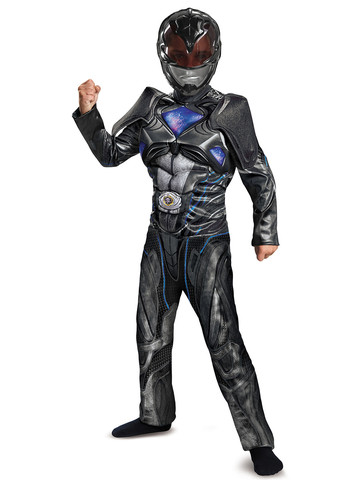 Power Rangers: Black Ranger Classic Muscle Child Costume