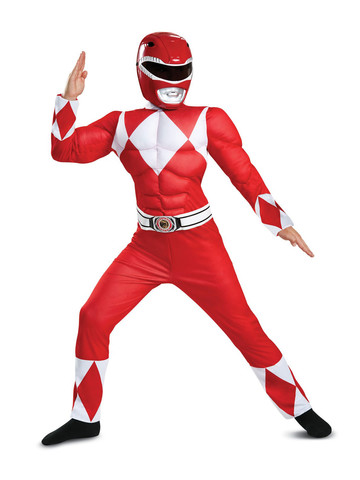 Mighty Morphin Power Rangers: Classic Muscle Red Ranger Costume for Children