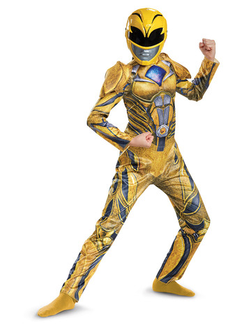 Kids Power Rangers: Yellow Ranger Costume Deluxe