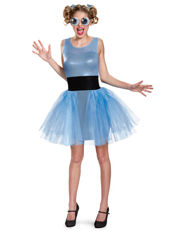 Girls Powerpuff Bubbles Costume Deluxe