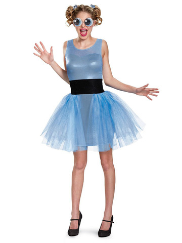 Girls Powerpuff Bubbles Teen Costume Teen Deluxe