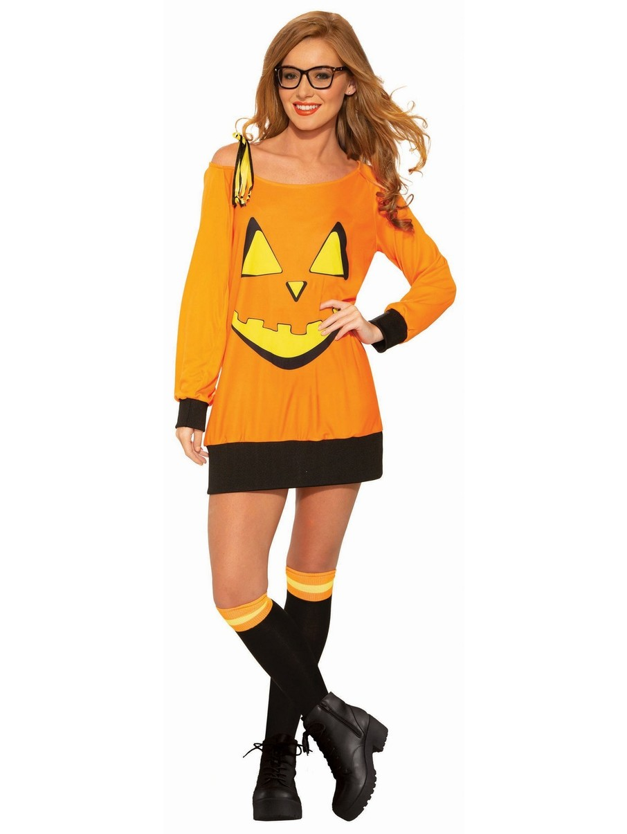 View larger image of Preppy Adult Pumpkin Shirt and Socks