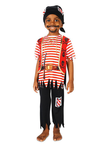 Kids Printed Pirate Matey Costume