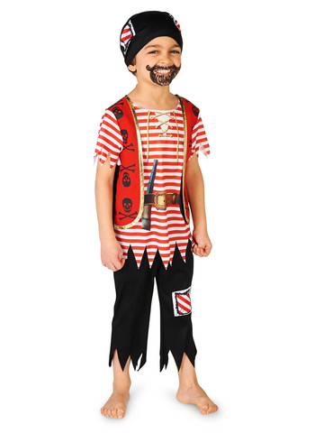 Toddler Printed Pirate Matey Costume