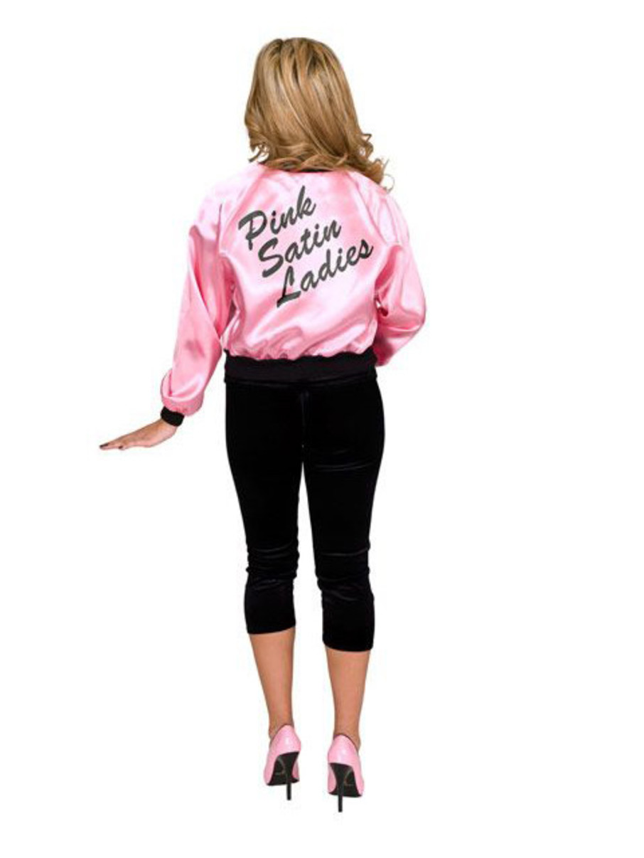 View larger image of Printed Satin Jacket Pink Ladies Adult Costume