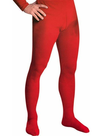 Mens Red Professional Tights w/ Feet