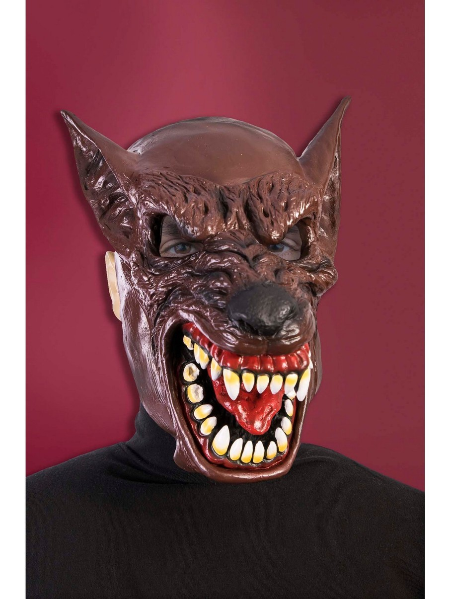 View larger image of Hooded Wolf Mask Accessory