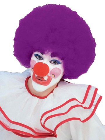 Purple Clown Wig