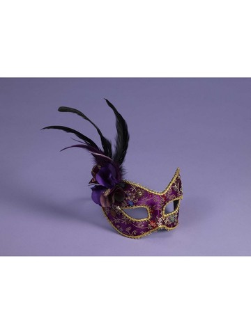 Gold and Purple Mask for Masquerade