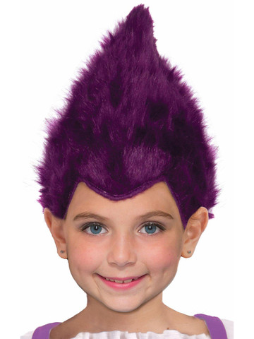 Kids Purple Fuzzy Wig