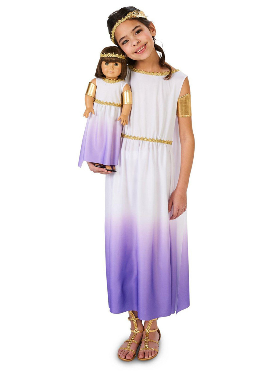 View larger image of Purple Passion Greek Goddess Child Costume with Matching Doll Costume