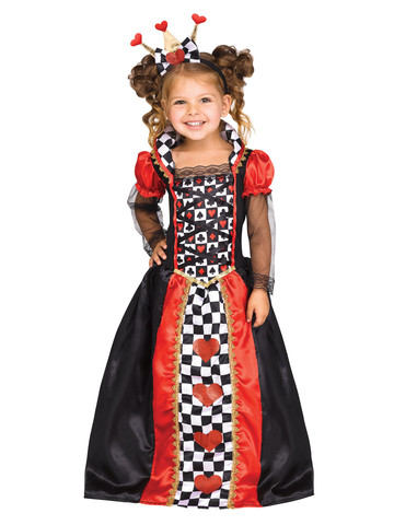 Queen of Hearts Costume for Girls
