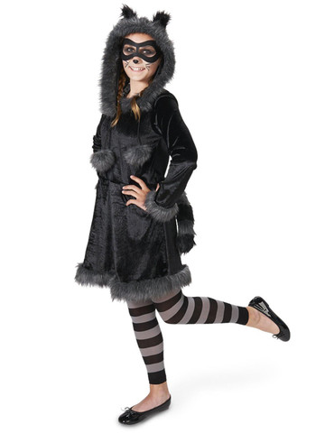 Raccoon with Tights Tween Costume