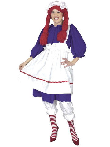 Raggedy Ann Plus Adult Costume