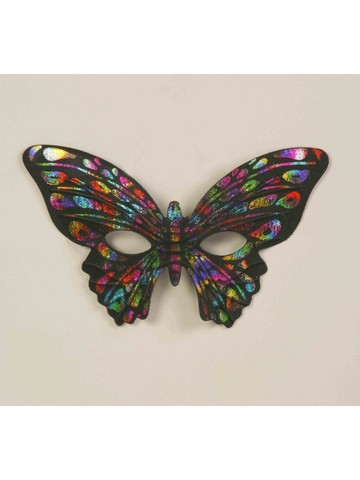 Adult Rainbow Butterfly Mask Accessory