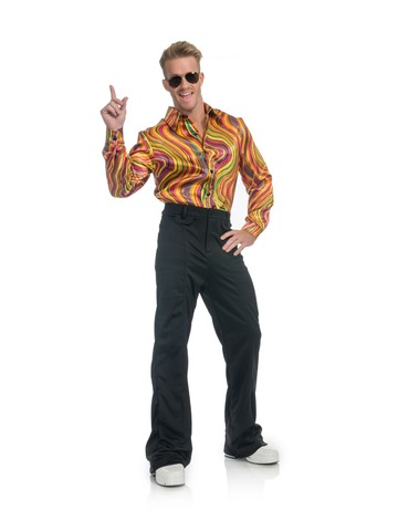 Rainbow Lights Disco Shirt Costume