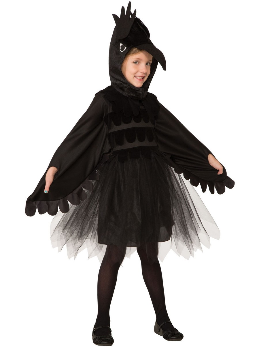View larger image of Girls Raven Costume