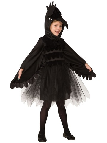 Girls Raven Costume