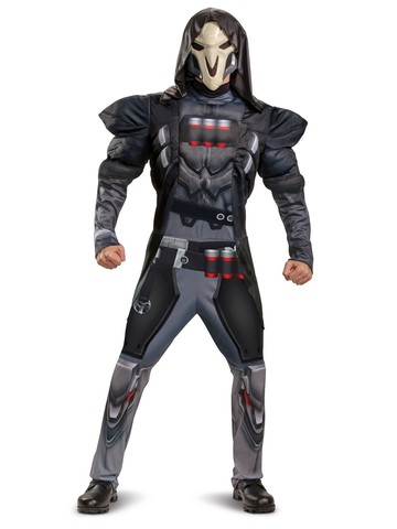Reaper Overwatch Muscle Costume for Teens