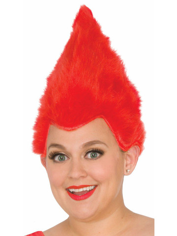 Adult Red Fuzzy Wig