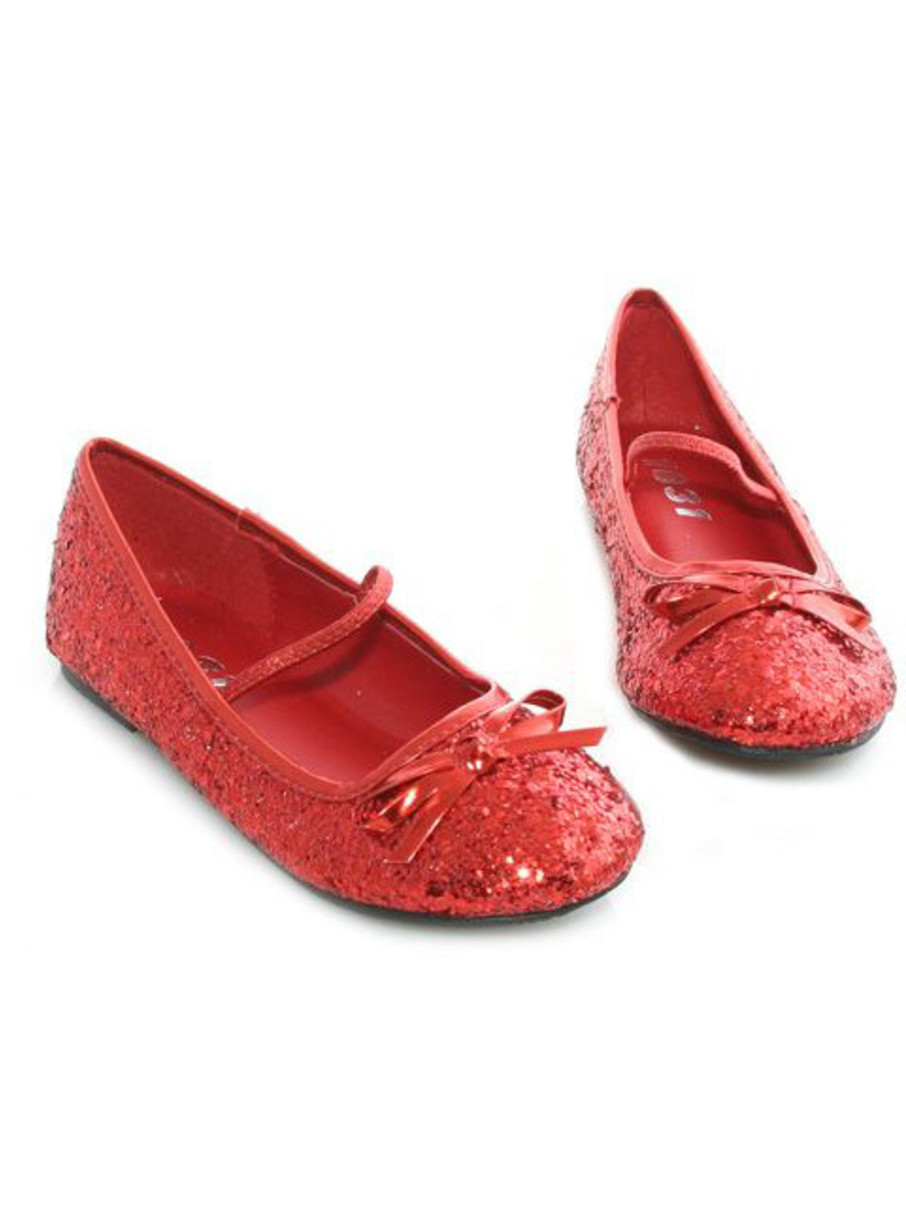 View larger image of Red Ballet Slipper with Glitter Child