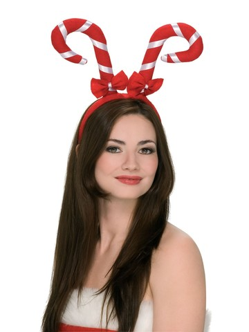 Red Candy Cane Headband