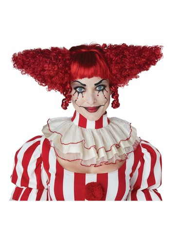 Creepy Clown Wig- Red