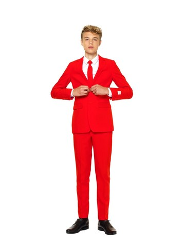 Red Devil Teen Boys Opposuit