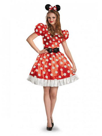Adult Classic Red Minnie Costume