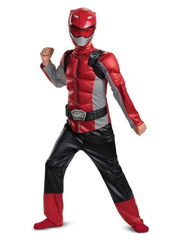 Beast Morpher Red Ranger Classic Muscle Costume for Kids