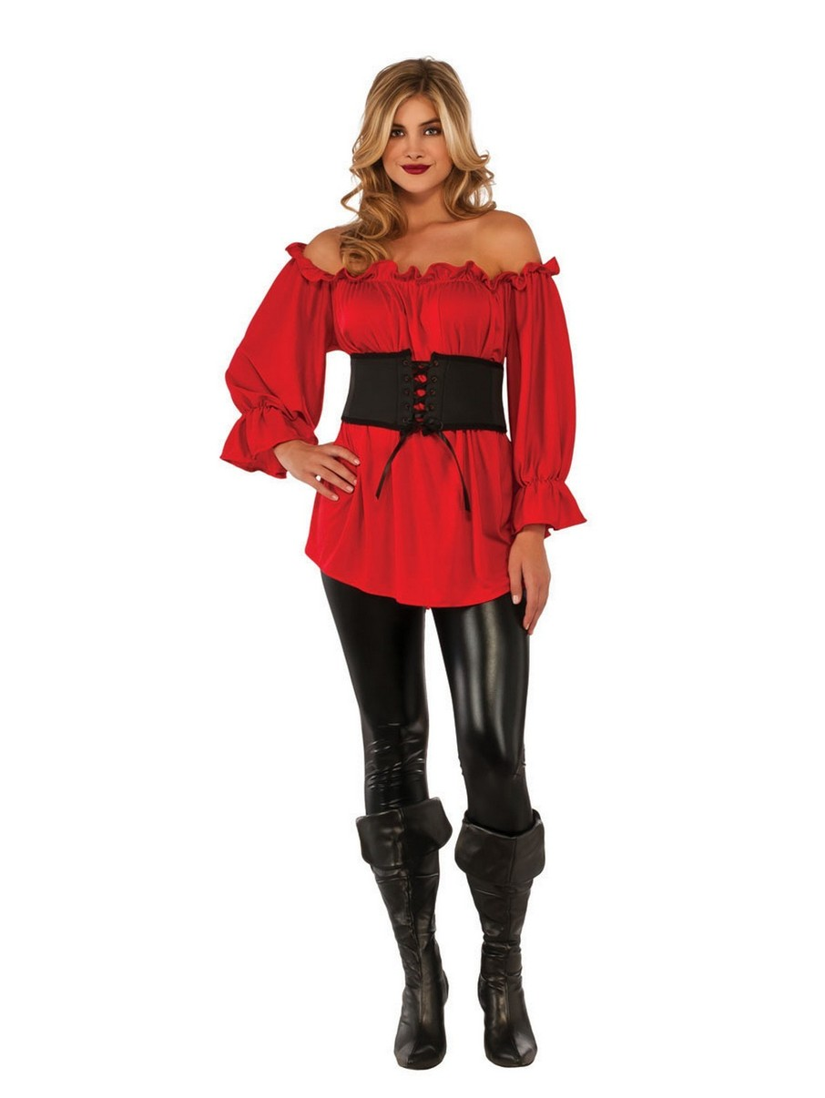 View larger image of Adult Red Renaissance Blouse Costume