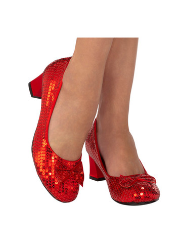 Red Sequin Pumps for Adults