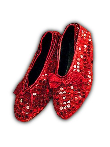 Red Sequin Shoe Covers - Child Accessory
