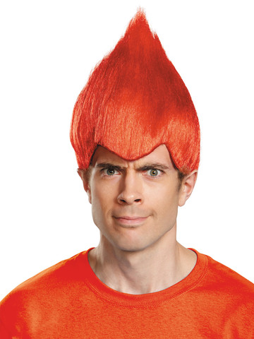 Red Troll Adult Wig
