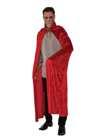 Adult Red Velvet Dracula Cape Costume Accessory