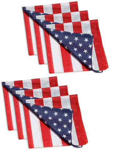 Red White & Blue Bandana (6 Pack)